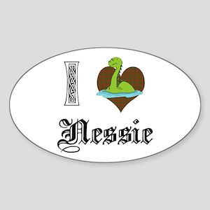 I [HEART] NESSIE Oval Sticker